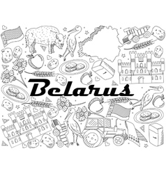 Belarus Coloring vector image