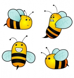 Cartoon bees vector