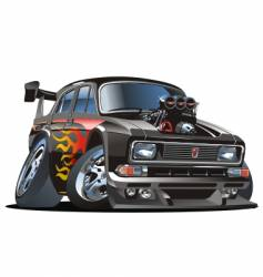cartoon hot-rod vector image vector image