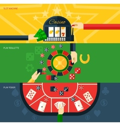 Casino Banner Set vector image vector image