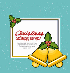 Christmas bell decoration card vector