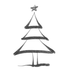 ChristmasTree bw vector image