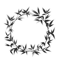Circle frame of bamboo vector image vector image