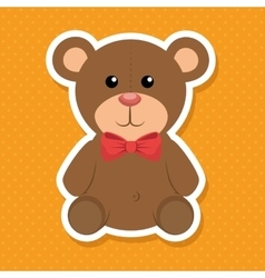 Cute bear baby icon vector
