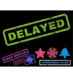 Delayed rubber stamp vector