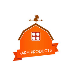 Farm cottage with caption vector