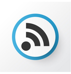 Feed icon symbol premium quality isolated wifi vector