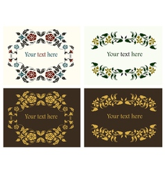 flower decorative borders set vector image