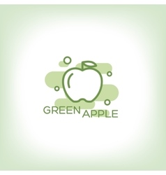 Green apple - logo vector