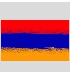Grunge Flag of Armenia vector image vector image