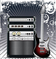 Guitar Combo music background vector image vector image