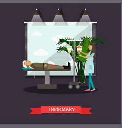 infirmary concept in flat vector image vector image
