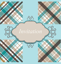 Invitation card retro vector