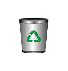 Isolated recyclable icon vector image
