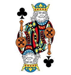 King of clubs isolated french version vector