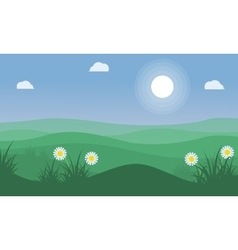 Landscape of beauty hill at spring vector