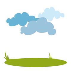 landscape with clouds vector image