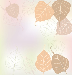 Leaves spring - background vector image vector image