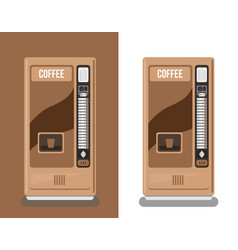 Office coffee automatic machine vector