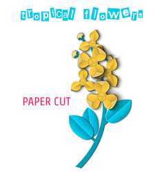 Paper cut tropical-03 vector