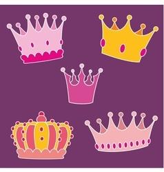 Pastel crown set vector