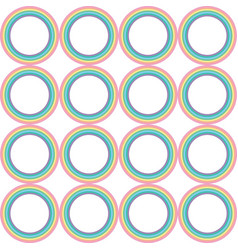 Pastel rainbow circle pattern vector