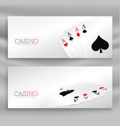 Playing cards banner set vector
