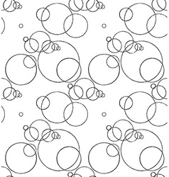 Seamless pattern with ink circles drawing vector image vector image