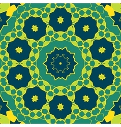 Stylized mandala green colour round ornamental vector