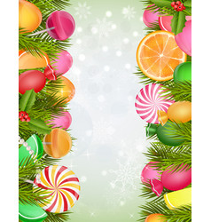 sweets background vector image