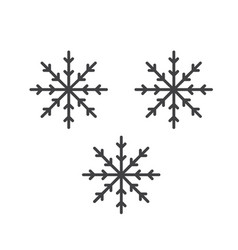 thin line snow flakes icon vector image vector image