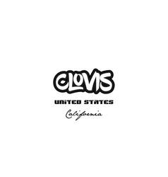 United states clovis california city graffitti vector