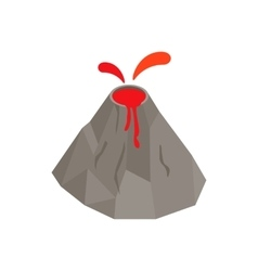 Volcano erupting icon isometric 3d style vector image