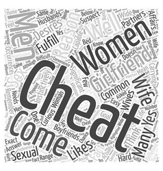 Why do women cheat on their partners word cloud vector