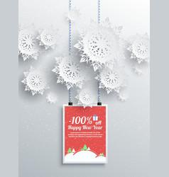 Winter christmas sale design elements vector