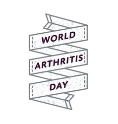 world arthritis day greeting emblem vector image vector image