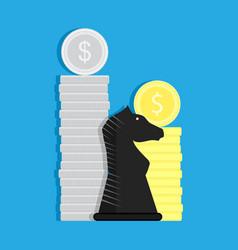 Financial strategy concept vector
