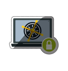 Computer lock security privacy vector