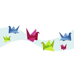 Group of various Origami swan vector image