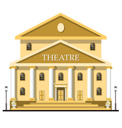 Theatre building isolated on white background vector