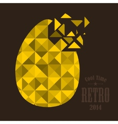 Broken golden egg vector
