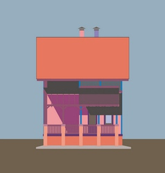 02 colored house v vector