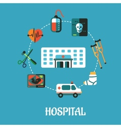 Hospital flat inforgraphic design vector