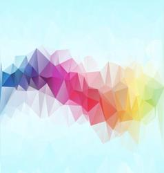 Colorful polygonal mosaic background vector