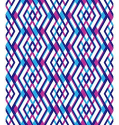 Bright abstract seamless pattern with interweave vector