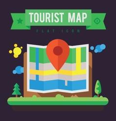 Tourist map vector