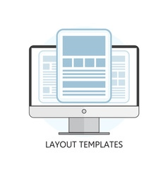 Isolated flat design layout templates icon vector