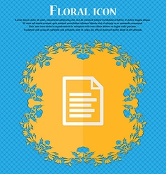 Text file floral flat design on a blue abstract vector