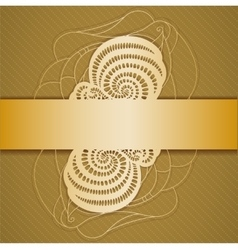 Background with ribbon vector