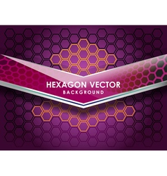 Hexagon violet background vector